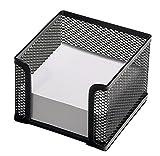 Osco MPH400-BLK - Cubo de notas de malla metálica, 400 hojas