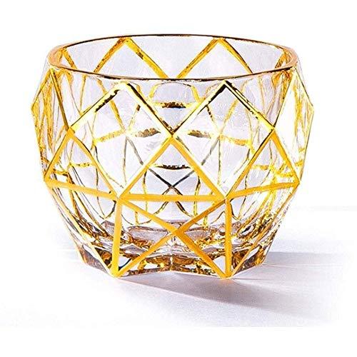Decantadores Decantador de whisky Dorado de oro Cristal de cristal, copa de vino de vino, vidrio, vidrios, vidrios, vidrios, brandy. vaso whisky RVTYR (Color : B)