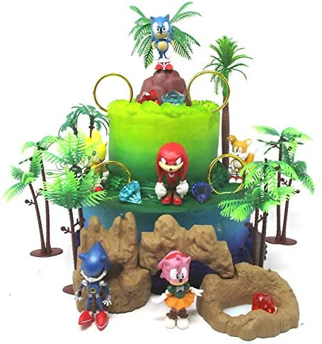 SONIC and Friends Deluxe Birthday Topper Soni Cake Super special price Featuring Sale item Set