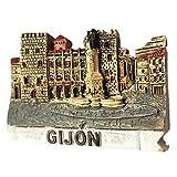 Imán 3D para nevera 3D con diseño de España realizado en resina, colección de viajes, ideal como recuerdo de viaje, regalo turístico, decoración para el hogar y la cocina, adorno magnético para nevera