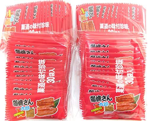 菓道 蒲焼さん太郎(30枚入り)× 4袋セット(計120枚) ミニシール付き