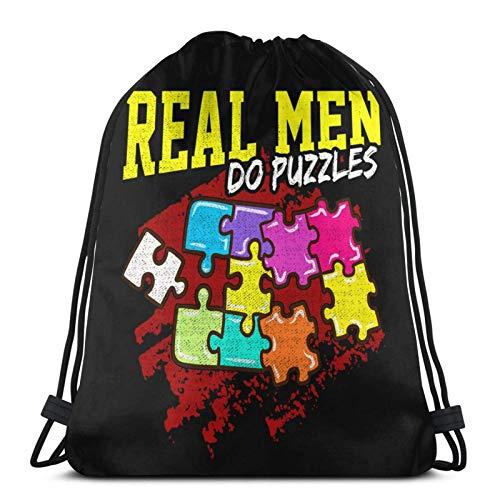 Lustige echte Männer tun Jigs Puzzles Hobbie Spielstücke Geschenk Pullover Hoodie Drstg Tasche Sport Fitn Tasche Reisetasche Geschenktüte