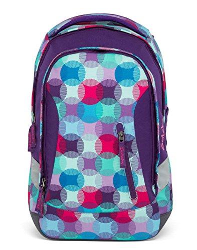 Satch Sleek Hurly Pearly Set van 4 schoolrugzak + etui + sporttas & regencape paars