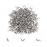 UNICRAFTALE 800 pz Calotte in Acciaio Inossidabile estremità 3mm Diametro Interno Pieghevole Punte di Perline Tappi Aperti A Conchiglia Copri Nodi per Nodi E Risultati A Crimpare Artigianato