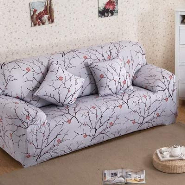 Leaf Pattern Sofa Cover Tight Wrap All-Inclusive Sofa Cover Elastic Sofa Towel niture Slipcover Slipcover 1PC   9, Singer seat