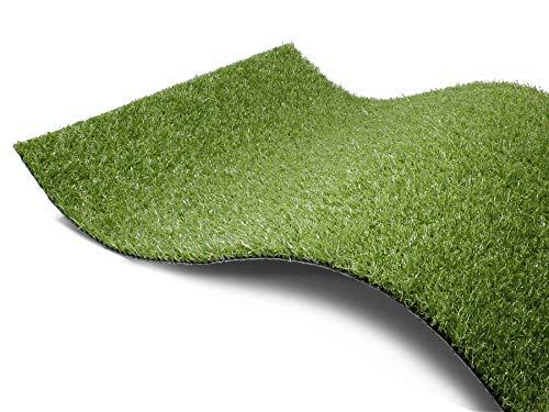 Kunstrasen Rasen-Teppich Meterware - COLORADO, 4,00m x 12,00m, Hochwertiger, UV-Beständiger, Wasserdurchlässiger Outdoor Bodenbelag für Balkon, Terrasse und Garten