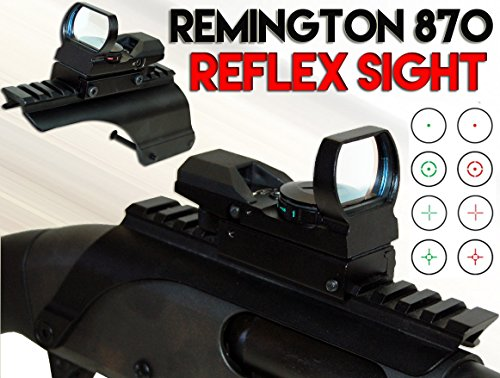 Best Review Of TRINITY Red Green Reticle Scope Kit Remington 870 Tactical Saddle Mount.