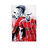 Robben und Ribery Poster, dekoratives Gemälde, Leinwand,