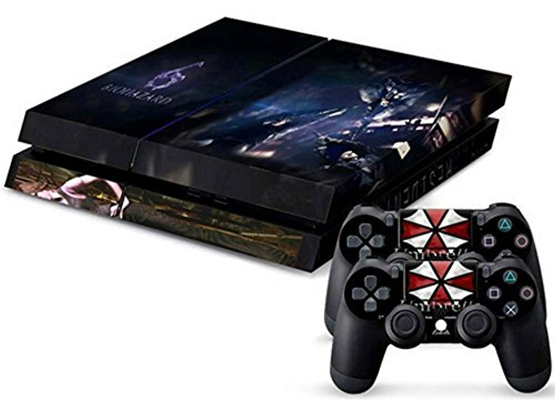 MODFREAKZ? Console and Controller Vinyl Skin Set - Black/Red Umbrella Biohazard for Playstation 4