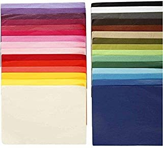 Seidenpapier Sortiment, 21x29,7cm A4, 300 Blatt verschiedene Farben sortiert