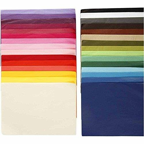 Seidenpapier Sortiment, 21x29,7cm (A4), 300 Blatt verschiedene Farben sortiert