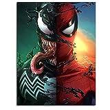 DRAGON VINES Poster sur toile Avengers 4 - Art mural - Cadeau de super-héros - Agent Venom - Spiderman is Murderous - 30,5 x 40,6 cm