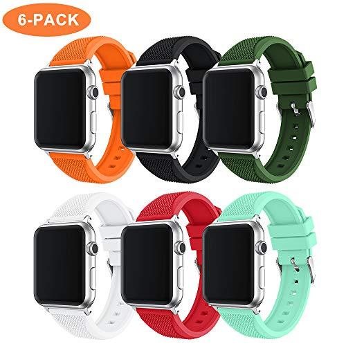 TOPsic Cinturino per Apple Watch Cinturino 38mm 40mm 42mm 44mm, Cinturino di Ricambio in Silicone Braccialetto Cinturino per iWatch Serie 4 3 2 1