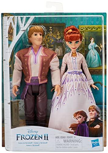 Disney Frozen Anna & Kristoff Fashion Dolls 2 Pack, Outfits Featured...