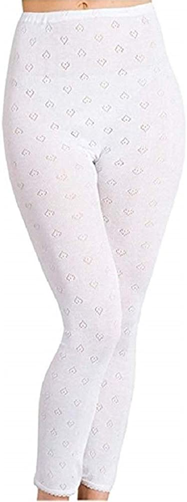 2 Pack Womens Hot Stuff Co Thermal Long Johns White 2XL