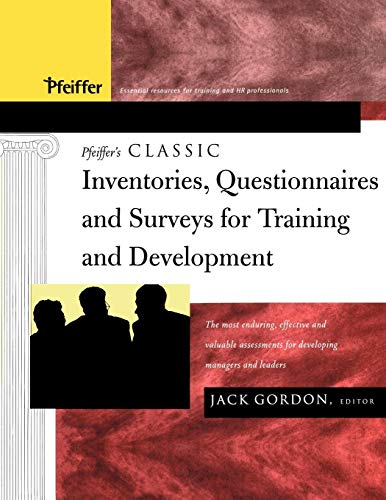 Download Pfeiffer's Classic Inventories, Questionnaires and Surveys for Training and Development 1118011066