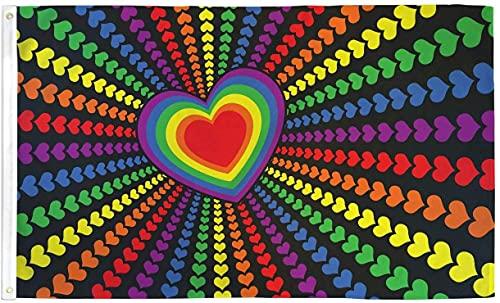 SHATCHI 1,5 m x 9 m Rainbow Lesbian Flag Parade Festival Regalos...