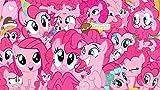 Póster con texto 'My Little Pony Pony Pinkie Pie Pie - Impresión de 30,5 x 45,7 cm, multicolor