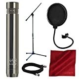 CAD GXL1200BP Cardioid Condenser Microphone Bundled with Samson Microphone Boom Stand, Mic Filter, XLR Cable, and Microfiber Cloth