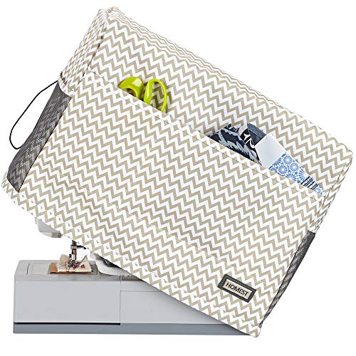 Review HOMEST Sewing Machine Dust Cover with Storage Pockets, Compatible with Most Standard Singer a...