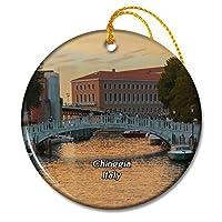 イタリアキオッジャ橋クリスマスオーナメントセラミックシート旅行お土産ギフト