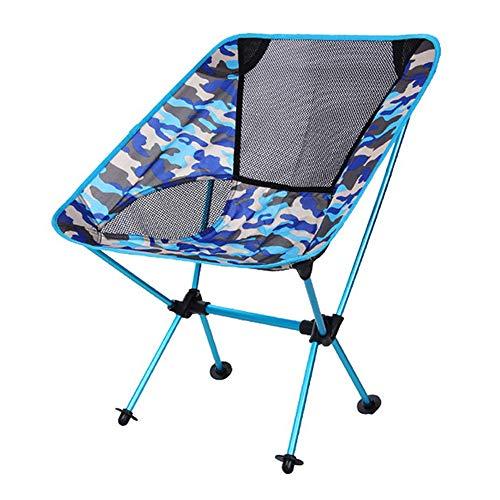LLEH Chaise de Camping Portable, Chaise de randonnée Ultra-légère pour Le Camp de Plein air, Voyage, Plage, Pique-Nique, Festival, randonnée, pêche,Navycamouflage