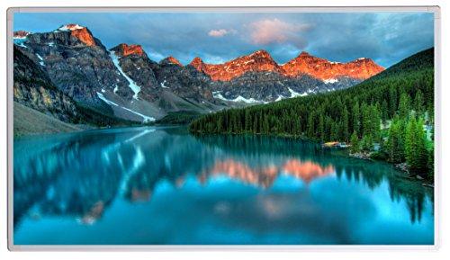 Könighaus Bildheizung (Infrarotheizung mit hochauflösendem Motiv) 5 Jahre Garantie (600-Banff national Park Rocky Mountains,)