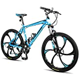 Merax Finiss 26' Aluminum 21 Speed Mg Alloy Wheel Mountain Bike (Stylish. Blue)