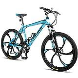 Merax Finiss 26' Aluminum 21 Speed Mg Alloy Wheel Mountain Bike (Stylish. Blue)