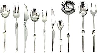 Mepra 132228087 Set, [87 Piece, Stainless Steel Finish, Dishwasher Safe Cutlery