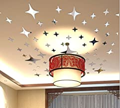 ملصقات جدران عاكسة بعبارات بشكل نجوم تعطي صورة ثلاثية الابعاد يمكنك تنسيقها بنفسك لتزيين سقف الغرفة كما يمكن ازالتها