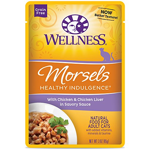 Wellness Healthy Indulgence Natural Grain Free Wet Cat Food, Morsels Chicken &...