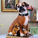 LPQA Escultura Decoración Estatuas Figuritas Decoración para Perros Madre Hogar Sala De Estar Gabinete De TV Decoración De Vino Artesanal
