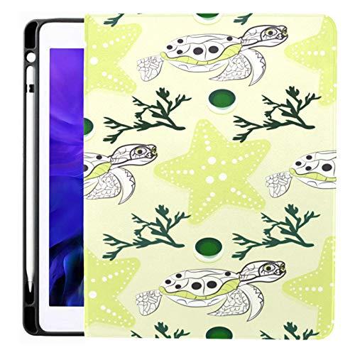 Funda para iPad Pro 12.9 2020 y 2018 con portalápices Cute Ocean Animals en una Funda Inteligente Infantil Funda para iPad, Compatible con Carga de lápiz de Segunda generación, Funda para iPad Pro 1