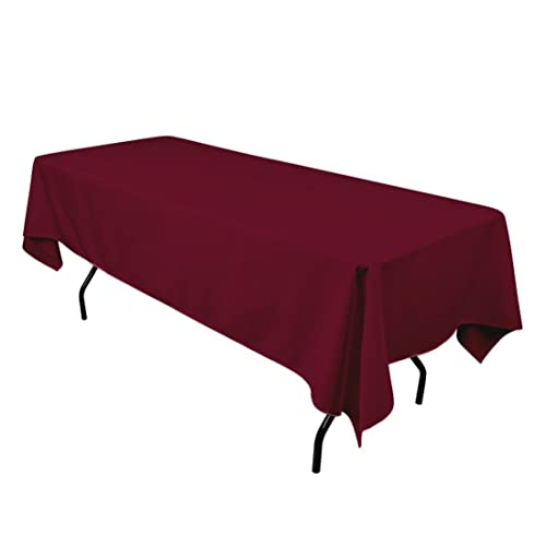 ad9c3e653fc53 Gee Di Moda Rectangle Tablecloth - 60 x 102 Inch - Burgundy Rectangular  Table Cloth for