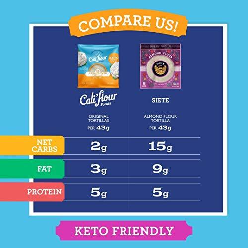 Product Image 4: Cali'flour Foods Tortillas (Original, 24 Count) – Keto Friendly, Low Carb, Gluten Free | Cauliflower Tortillas