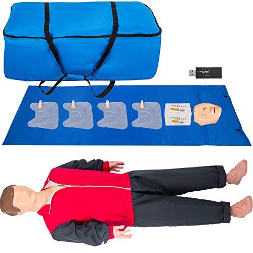 VEVOR Maniquí de Entrenamiento CPR, 165 x 48 x 30 cm CPR Maniquí de Entrenamiento Profesional JY / CPR110 Adulto Maniquí de Entrenamiento CPR Modelo de Entrenamiento de Primero Auxilio para Enseñanza