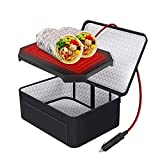Aotto Personal Food Warmer for Car, 12V Heated Lunch Boxes for Adults, Portable Mini Oven Microwave for Meal & Raw Food Road Trip/Picnic/Camping/Picnic/Family Gathering (Black)
