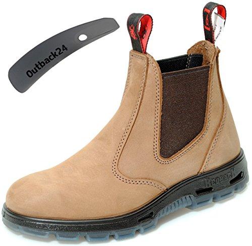 RedbacK UBCH Work Boots Nubukleder Arbeitsschuhe aus Australien Unisex - Crazy Horse + Schuhlöffel (UK 07.0 / EU 41.0)