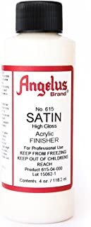 Angelus Brand Acrylic Finisher, Satin High Gloss No. 615, 4 Ounce Bottle (615-04-000)