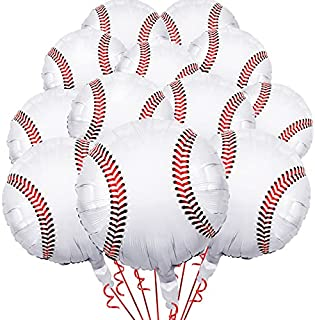 12 Pieces 18 inches Baseball Balloons Foil Mylar Baseball Balloons for Baby Shower Birthday Party Sports Themed Party Deco...