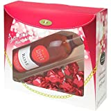 Rose Wine Gift Set - Wine and Chocolate Hamper - Valentines Day Gifts for Her - Mothers Day - Birthday - Wine Gifts for Women