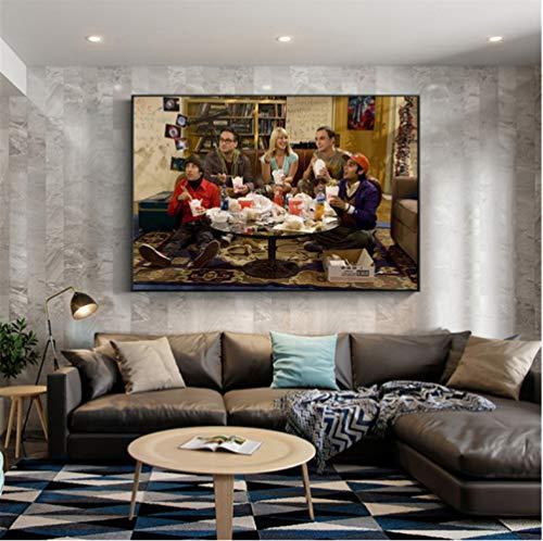 NOT Poster Filmplakat The Big Bang Theory Wandkunst Malerei Leinwand Bilder Für Wohnzimmer Home Decor 50 × 70Cm No Frame