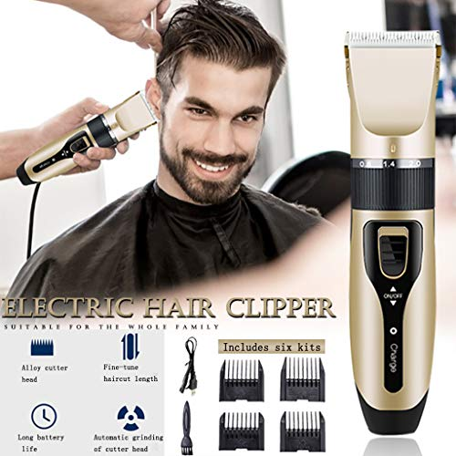 Jiayit Home Haircut for Men Hair Beard Trimmer Rechargeable Barber Hair Grooming Kit Professional Hair Clipper Metal Electric Cordless Hair...