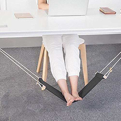 KIKOOY Foot Hammock Under Desk - Portable Adjustable Office Feet Rest Hammock Black