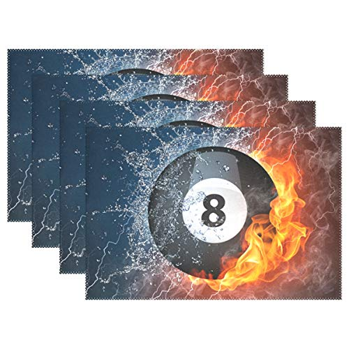 OKBYGD Set of 1,4,6 Placemats,8 Ball Pool Best Dining Kitchen Table Mats Easy to Clean