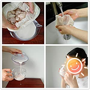 Cheesecloth Bags for Straining,Reusable Cold Brew Coffee Cheese Cloths Strainer,Large Nut Milk Tea Juice Bag,100… |