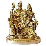 GURU JEE Brass Statue Lord Shiva MATA Parvati Ganesha Kartikeya Gifts Pooja Mandir