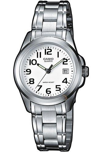 CASIO Collection LTP-1259D-7BEF - Reloj de Mujer de Cuarzo, Correa de Acero Inoxidable Color Plata