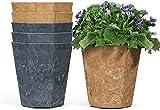 Lf - Maceta de plástico 6 juegos de decoración moderna jardinería interior uso contenedor para todas las plantas de la casa de hierbas cactus siembra vivero